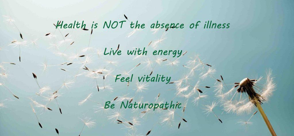 Naturopathy for health and vitality
